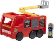 Fireman Sam Wooden Jupiter With Figure