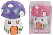 Fairyland Mushroom Moneybox - Colour May Vary
