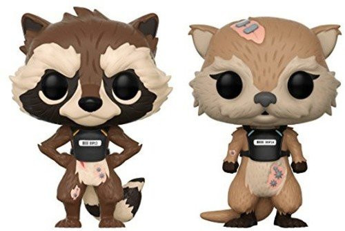 Funko POP Bobble Marvel Guardians of the Galaxy Rocket And Lylla  Collectible Figure
