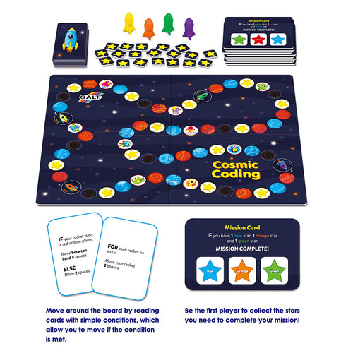 Galt Toys Cosmic Coding Educational Game With Guide