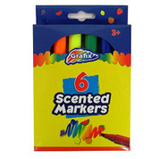 Grafix Scented Markers, Pack of 6