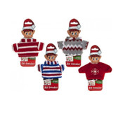 "Knitted Sweater For Your Christmas Elf - Fits Standard size 12"" VIP Elf"