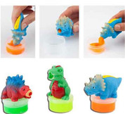 Dino World Slime Spitting Dino, Assorted Colours One Supplied