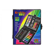 51 Piece Art Set In Display Box Set Crayons Eraser Sharper Pencil Colour Set
