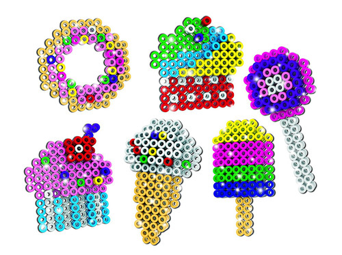 "John Adams ""Ezee Beads 3D Little Treats"" Craft (Multi-Colour)"