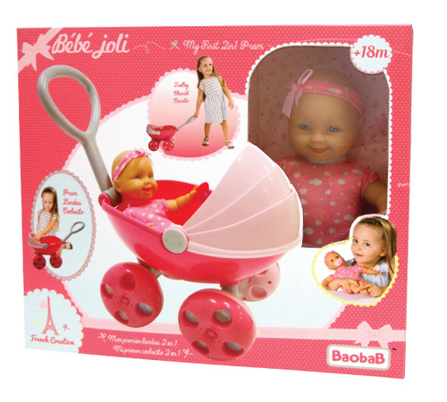 French Creation My First 2 in 1 Pram And Doll