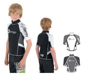 Children Osprey Rash Vest - Black - XS (Assorted colours)