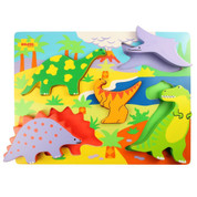 Bigjigs Toys Chunky Lift Out Puzzle Dinosaurs