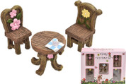 Toyland® 5 Piece Fairyland Fairy Tea Time Set with Accessories - Dolls House Furniture