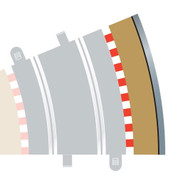 Scalextric Track - Radius 3 Outer Border/Barrier 22.5o
