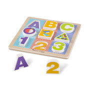 Melissa & Doug 11899 First Play Wooden Abc-123 Chunky Puzzle (9 -Pieces)