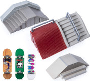 Tech Deck Ultimate Street Spots Pack with 3 Fully Assembled Exclusive Boards