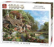 King 5718 Riverside in Bloom Cottage Jigsaw Puzzle 1000 Piece