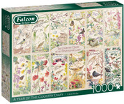 Jumbo Falcon de luxe A Year of The Country Diary 1,000 Piece Puzzle