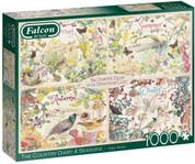 Jumbo Falcon de luxe Country Diary 4 Seasons 1,000 Piece Puzzle