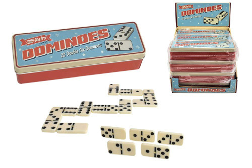 SupeRetro 28 Dominoes in Tin Gift Set