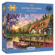 Gibsons 500 Piece Waiting For Supper Jigsaw Puzzle