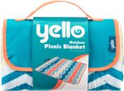 Yello Folding Picnic Blanket Zig Zag Design