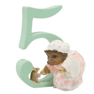 Age 5 Mrs Tiggy Winkle Figurine - Beatrix Potter - Number Five