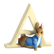 Letter A  Peter Rabbit Figurine - Beatrix Potter Classic