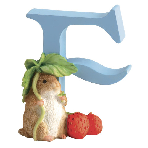 Letter F  Timmy Willie Figurine - Beatrix Potter Classic