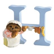 Letter H Mrs Tiggy-Winkle Figurine - Beatrix Potter Classic