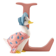 Letter L Jemima Puddle Duck Figurine - Beatrix Potter Classic