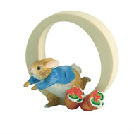 Letter O Peter Rabbit Figurine - Beatrix Potter Classic