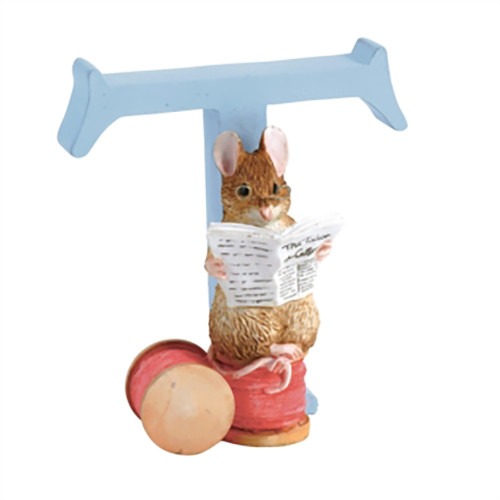 Letter T The Tailor of Gloucester  Figurine - Beatrix Potter Classic