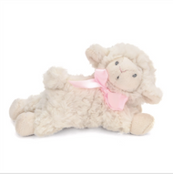 Girls Pink Lamb Rattle - Nat & Jules