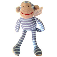 Blue Knit Monkey Baby's First