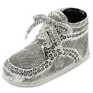 Silver Plated Birth Record Baby Shoe