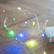 40pc LED Copper Battery Operated Fairy Lights - Multi Colour