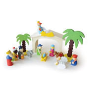 Wooden Nativity Play Set - 15pc