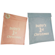 Babys first Christmas Santa Sack - Pink and Blue Option