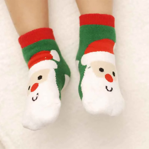 Baby Christmas Santa Socks
