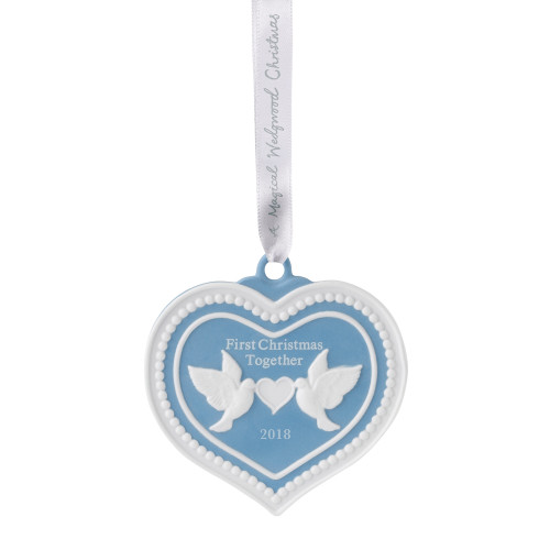 Wedgwood Our First Christmas 2018 Ornament 7cm