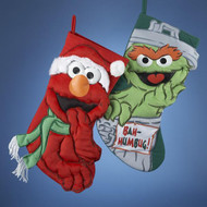 Sesame Street Elmo and Oscar Christmas Stocking. Each Sold separately