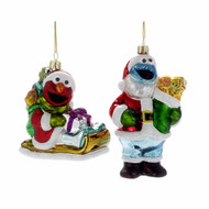 Sesame Street Glass hanging Ornaments  (2 Designs)
