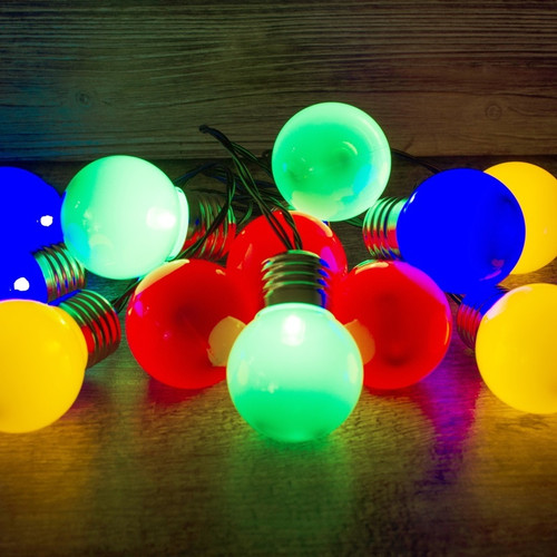 50pc Retro Party Lights - Multicolour