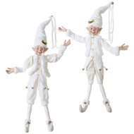 White Posable Christmas Elf (2 Designs)