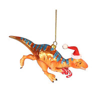 T-Rex Glass Hanging  Ornament - 7cm