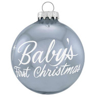 Blue Baby's 1st Christmas Ornament