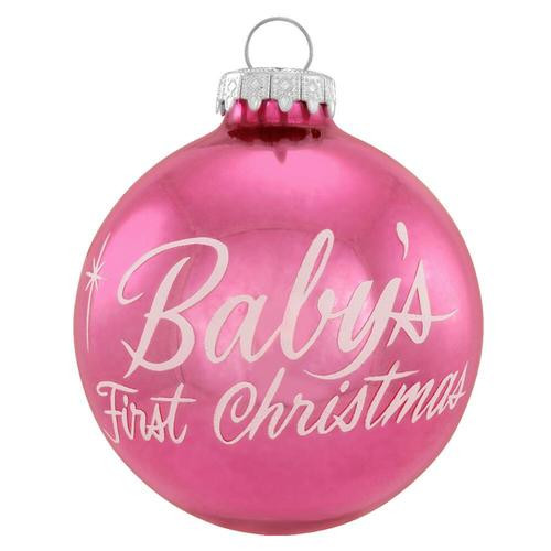 Pink Baby's 1st Christmas Ornament