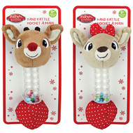 Rudolph And Clarice Stick Rattle (2 Designs)