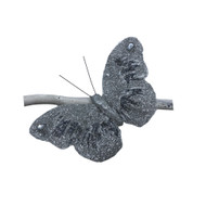 Silver Glittered Butterfly