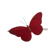 Red Butterfly With Clip