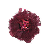 Burgundy Jewelled Flower