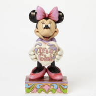 Jim Shore Minnie Mouse It a Girl Figurine