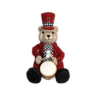 Harlequin Christmas Bear With Drum